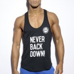 ES Collection Koszulka na siłownię FIT Never Back Down TS169 C-10 czarna
