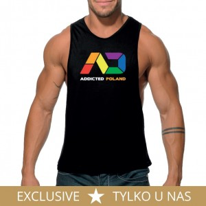 Addicted Tank top Addicted Poland PU365 C-10 czarny