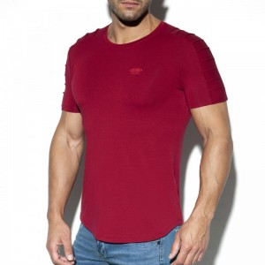 ES Collection T-Shirt TS245 C-29 bordowy