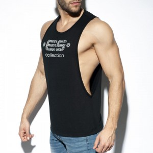 ES Collection Tank top z logo TS273 C-10 czarny