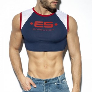 ES Collection Muscle Crop Top TS267 C-09 granatowy NA ZAMÓWIENIE