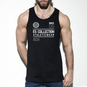 ES Collection TS219 Tank top Athleticwear C-10 czarny