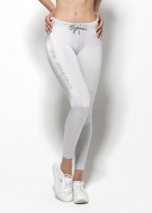 ES Collection Woman Proste sportowe legginsy W41 C-21 srebrne