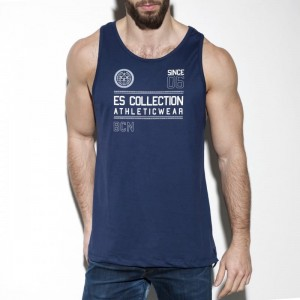 ES Collection TS219 Tank top Athleticwear C-09 granatowy