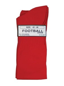 Mister B Football Socks czerwone