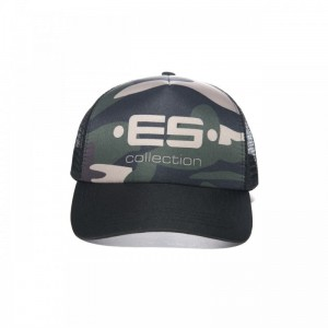 ES Collection CAP003 Czapka Bejsbolowa z logo C-17 kamuflaż