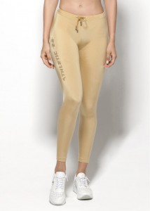 ES Collection Woman Proste sportowe legginsy W41 C-20 złote