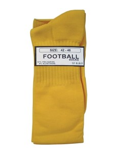 Mister B Football Socks żółte