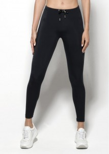 ES Collection Woman Proste sportowe legginsy W41 C-10 czarne