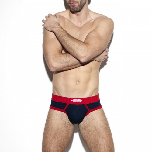 ES Collection Jockstrapy-slipy UN312 C-09 granatowe